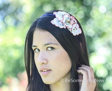Custom Made Vintage Hankie Headband, Women Hair Accessories