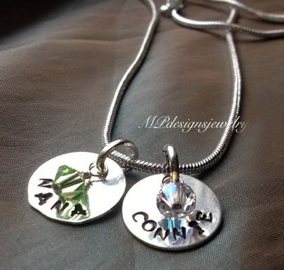 Custom Made Custom Birthstone Handstamped Mother/Grandmother Necklace