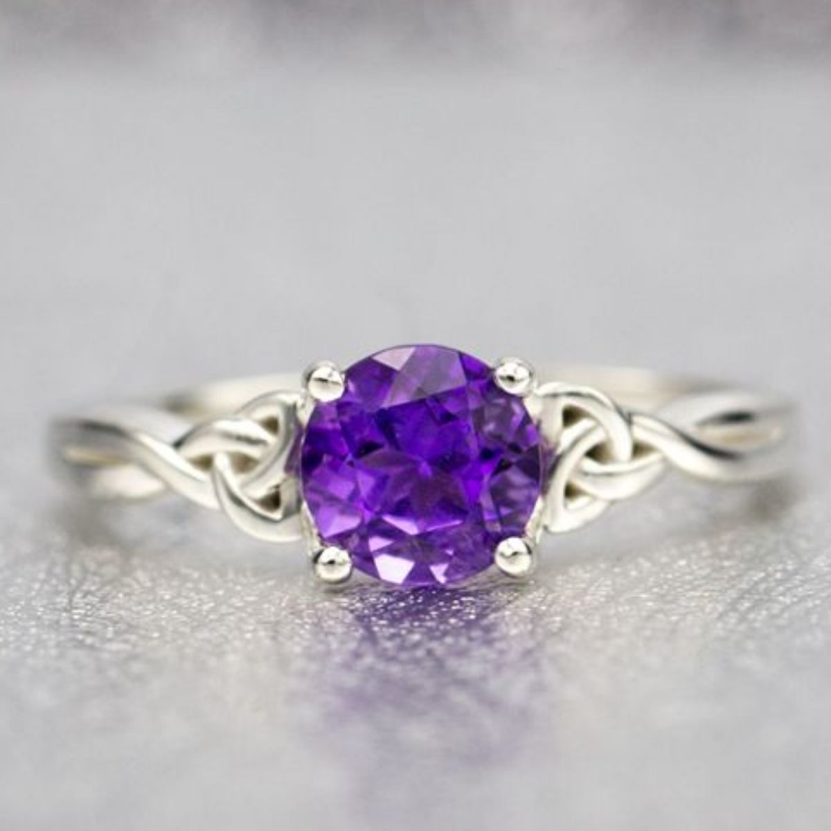 solitaire violet black three rings gold purple p stone engagement wedding diamond product ring classic