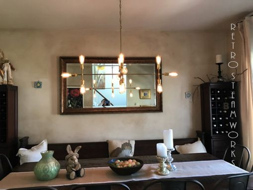 Custom Made Gold Chandelier - Modern Brass Lights - Mid Century Lamp - Hallway Lighting - Light Fixtures