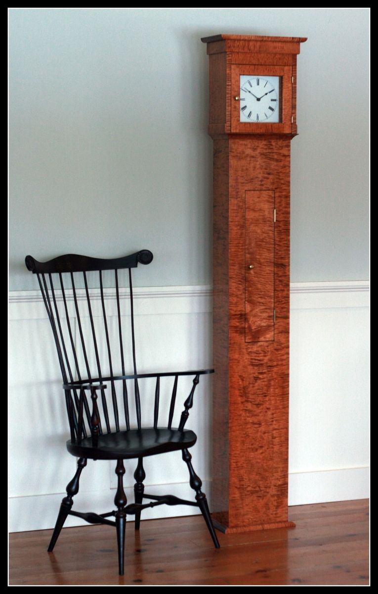 Hand Made Shaker Tall Clock By T Kelly Furniture