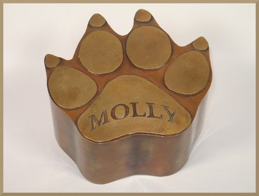 Custom Made Dog Paw Pet Urn