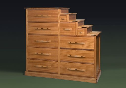 Custom Made Mahogany Tansu Chest (Step Dresser)