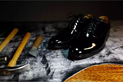 Custom Made Paint Leather Men's Shoes