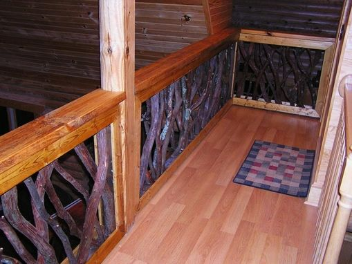 Custom Made Rustic Mountain Laurel Or Rhododendron Stair Railing Porch Rails
