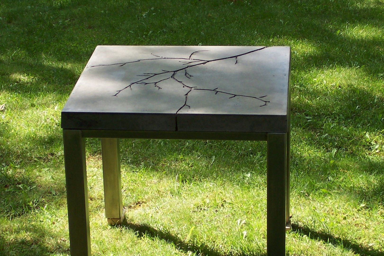 Custom Made Timeless Branch Concrete Table