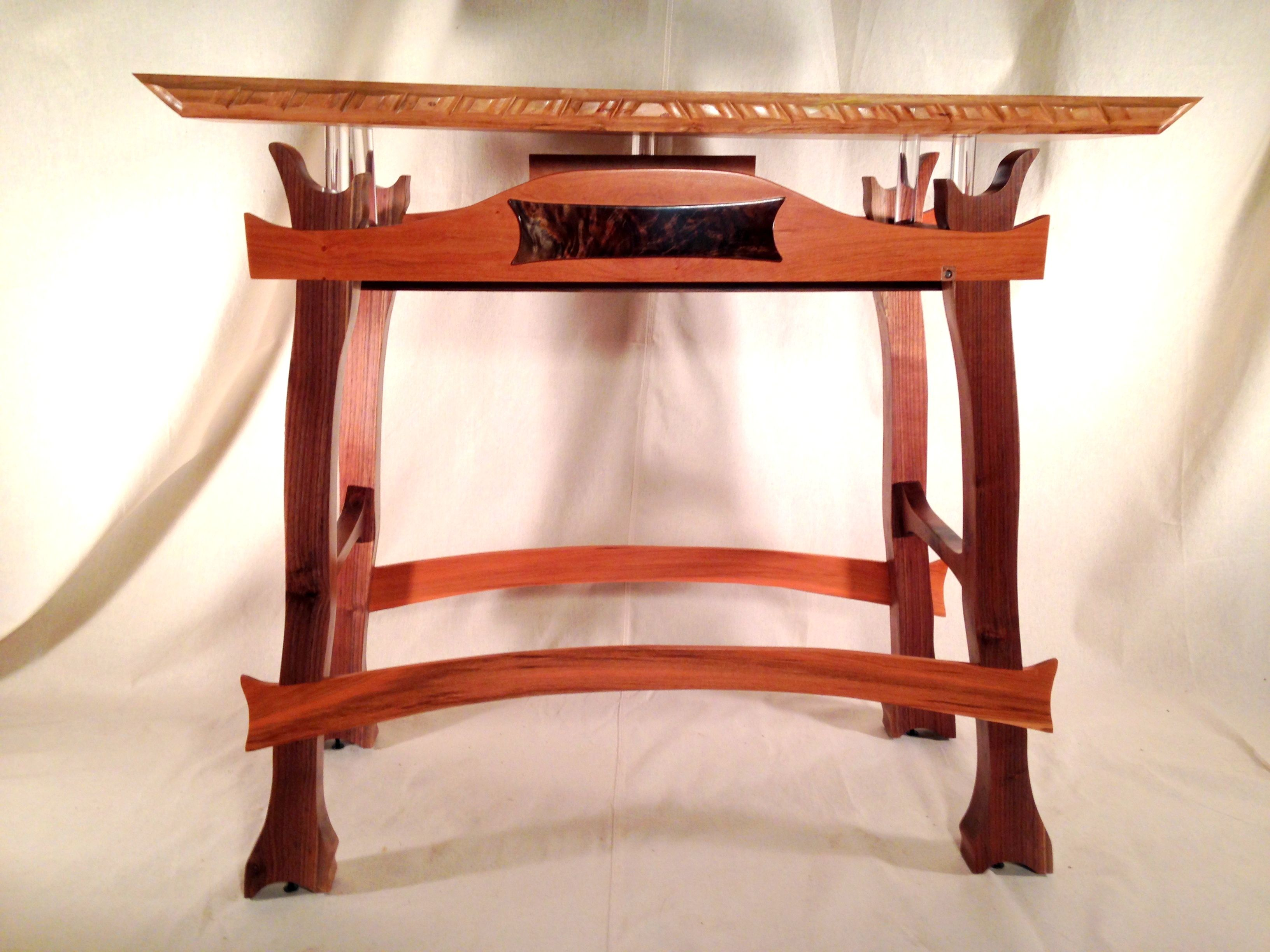 Hand Made Japanese Style Night Stand By Earth Art And