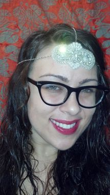 Custom Made Sale Dazzling Retro Silver And White Headband Chain, Great For Weddings And Proms, Ready To Ship