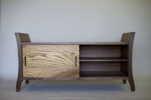 Custom Made Walnut & Zebrawood Bench/Chest