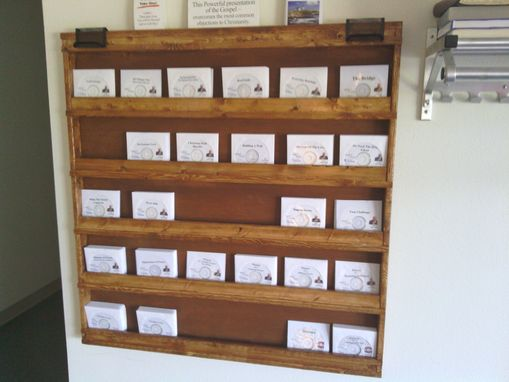 Custom Made Solid Wooden Cd Display Rack