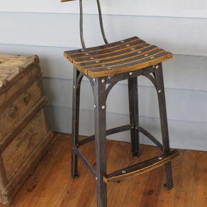 Reclaimed Wood Bar Stools Barnwood Barstools