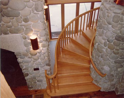Custom Made Entry Staircase At Mountain Lodge