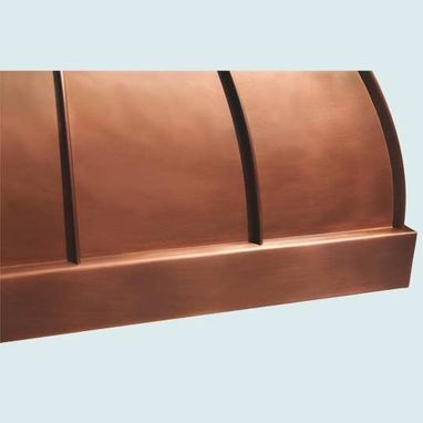 Custom Made Copper Range Hood With Stack & Standing Seams