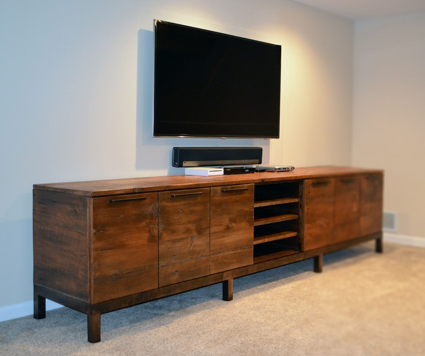 7af359863727 Handmade Reclaimed Wood Media Center Console by Abodeacious ...