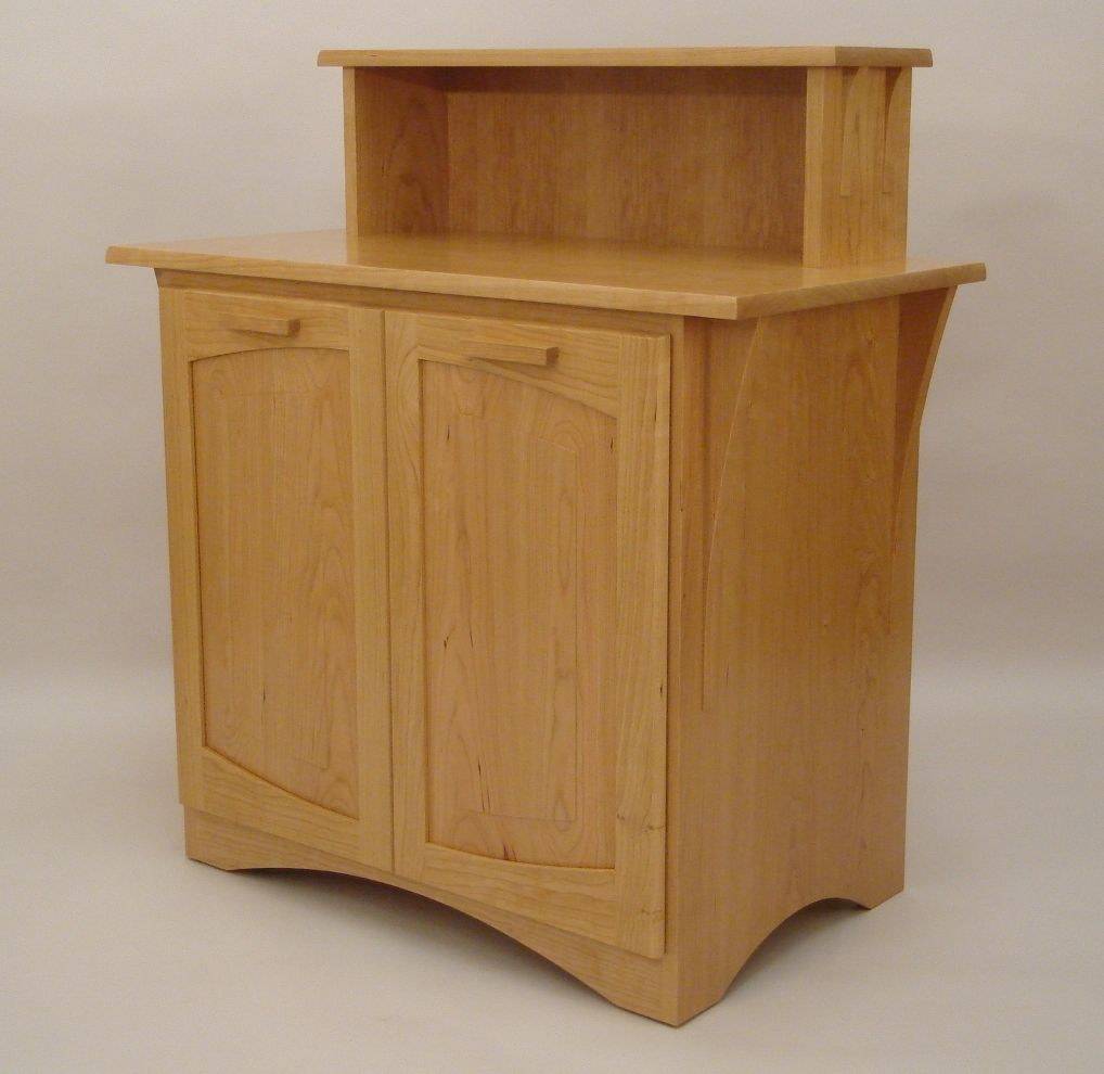 Bailey Cabinet Company Custom Made Solid Cherry Recycling Cabinet By Dwayne Bailey
