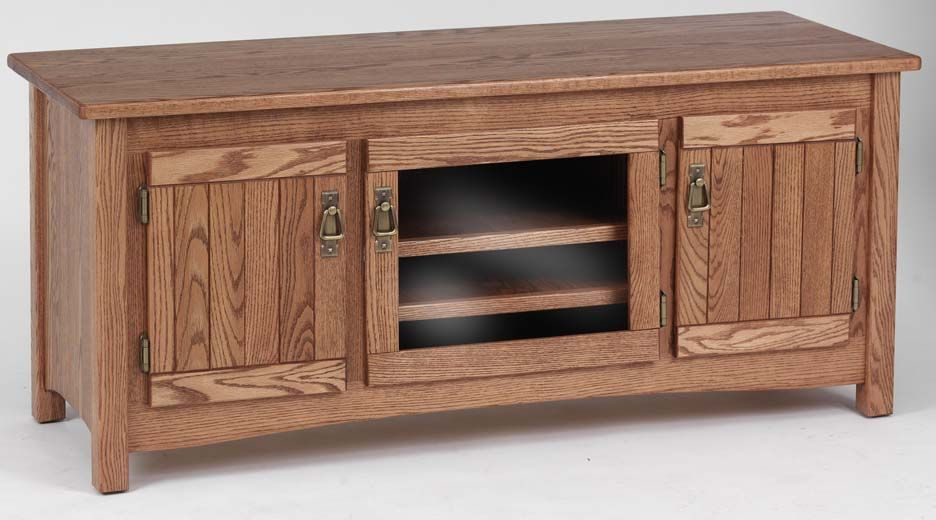 Hand Crafted Mission Styled Solid Wood Oak Plasma 51 Tv Cabinet By