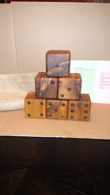 Custom Made Giant Lawn Dice Solid Cedar (Set Of 6) Great Birthday Or Christmas Gift
