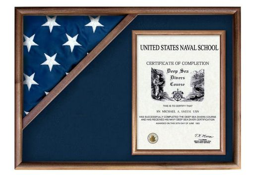 Custom Made Large Case For Certificate For 5x 9.5 Flag