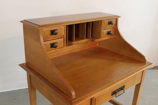 Custom Made Antique Style Desk In Golden Brown