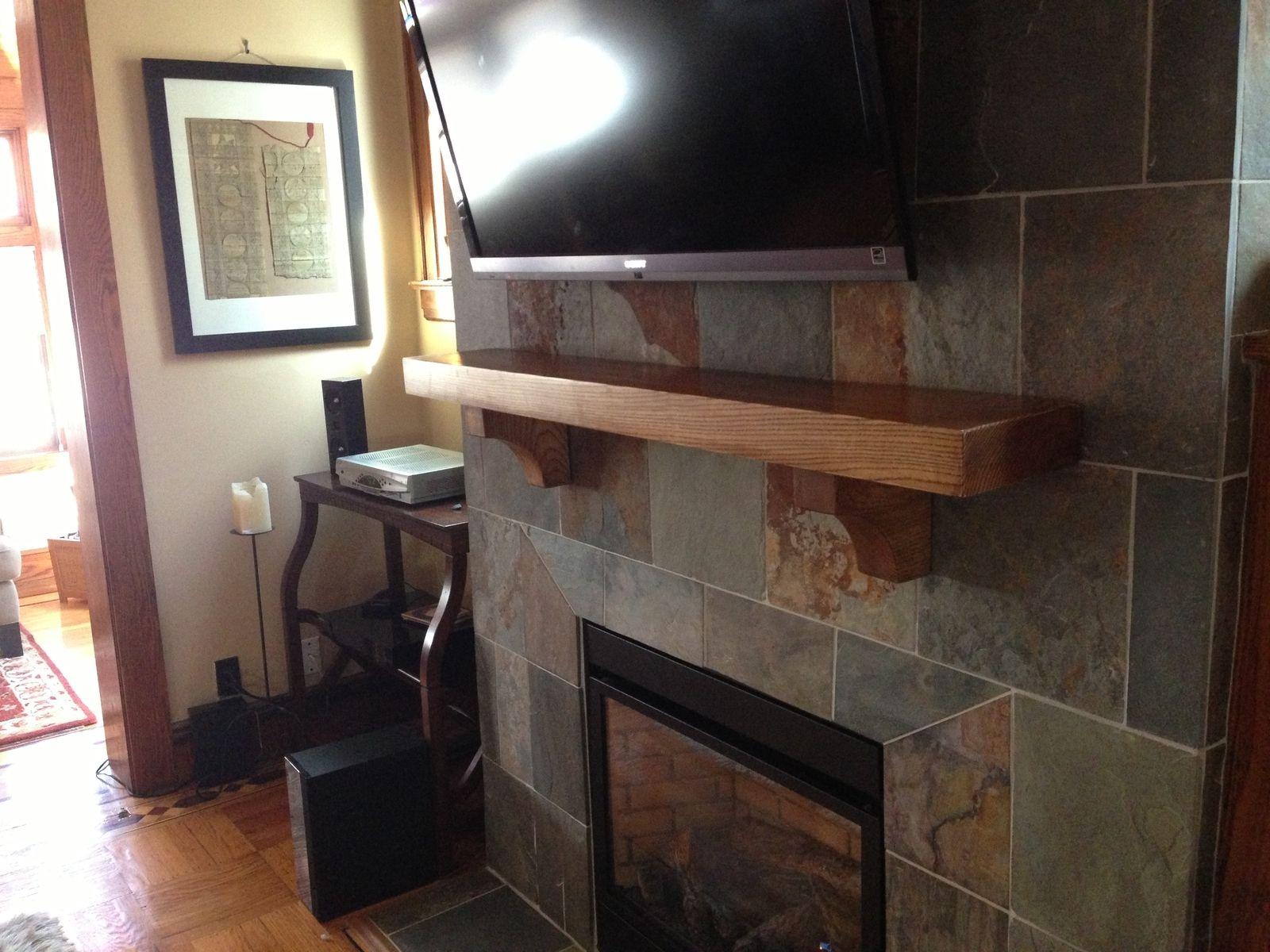 Hand Crafted Mantel Shelf by Greenriverwoods | CustomMade.com