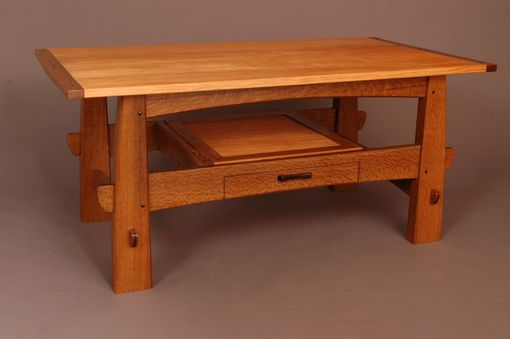 Custom Made White Oak And Fir Coffee Table