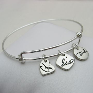 Custom Made Tiny Silver Charm With Your Handwriting