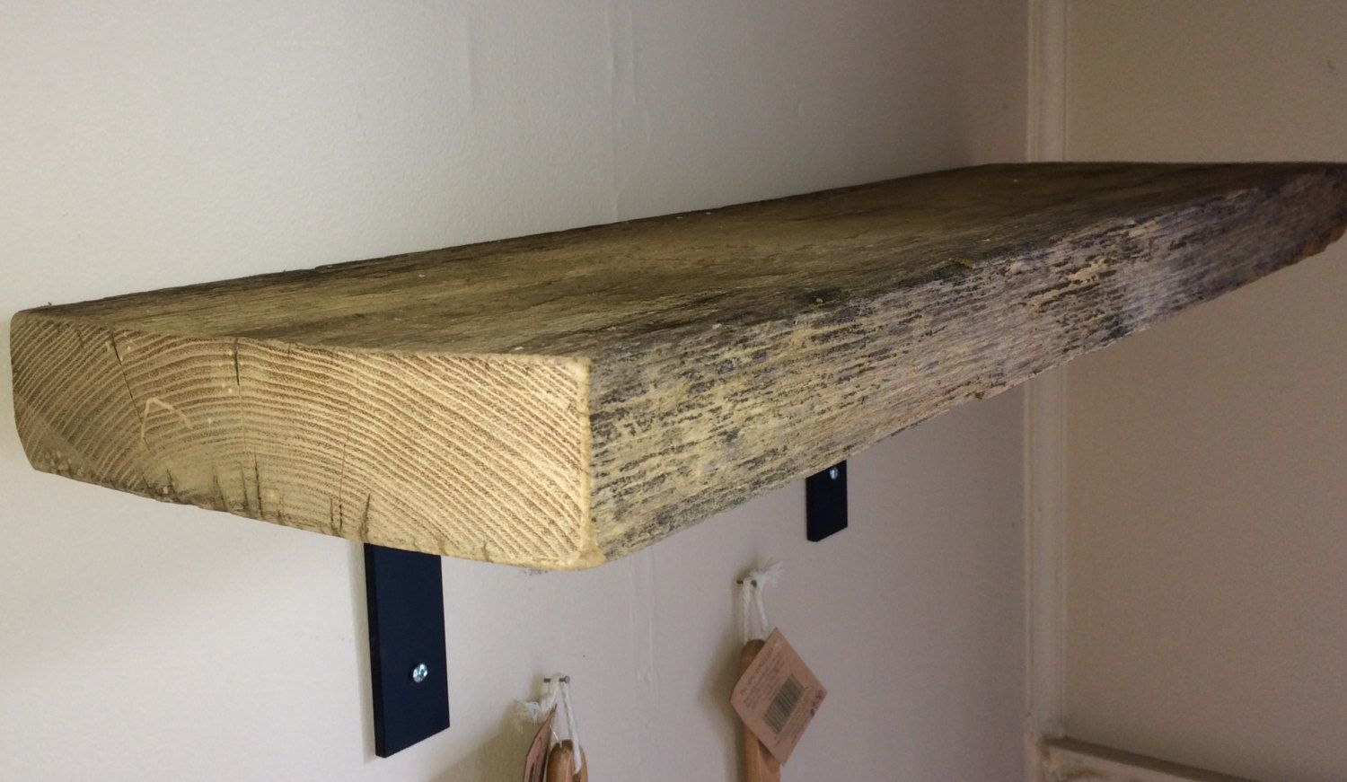 Buy Handmade Barn Wood Shelf Reclaimed With Industrial Metal L Brackets Made To Order From Blowing Rock WoodWorks