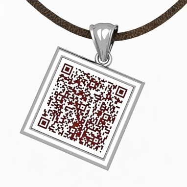 Custom Made Medical Alert Qr Pendant