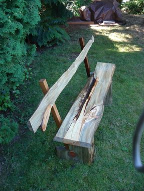 Custom Made Pine Bench With Back