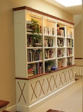 Custom Made Bookcase With Mahogany Accents In San Francisco, Ca