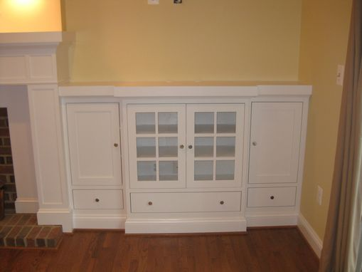 Custom Made Mantle With Media Storage
