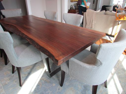 Custom Made Walnut Live Edge Table Up To 18 Feet Long