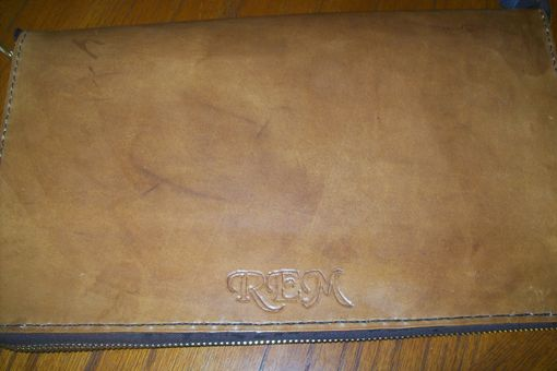 Custom Made Custom Leather Zippered Portfolio