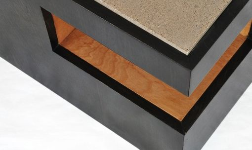 Custom Made Cantilever Cube Coffee Table