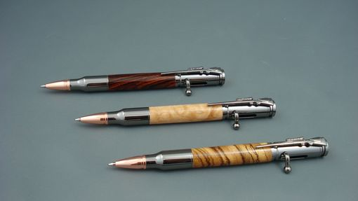 Custom Made Bolt Action Hardwood Pens