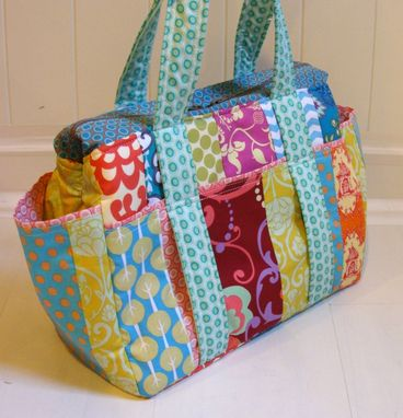 Custom Made Custom Patchwork Diaper Bags