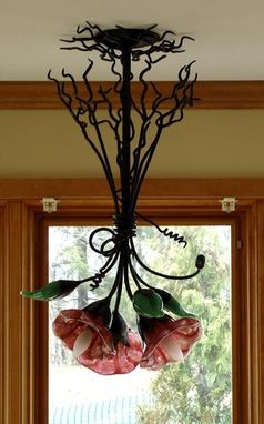 Custom Made Floral Lamp