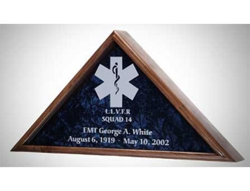 Custom Made Emt Flag Case, Medical Flag Display Case