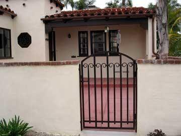 Custom Spanish Courtyard Gate, Hand-Forged, Deep Brown ...