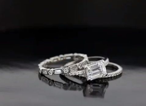Custom Made Amazing Platinum And Diamond Wedding Set