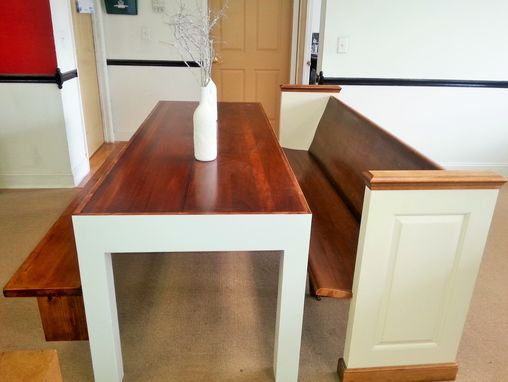 Custom Made Formal Coffee Tables - Dinning Table Made Out Of Restored Church Prew !