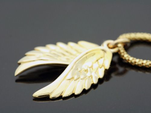 Custom gold angel wings pendant by mava style custommade gold angel wings pendant aloadofball Choice Image