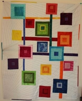 Custom Made Blocks Of Color Modern Wall Hanging