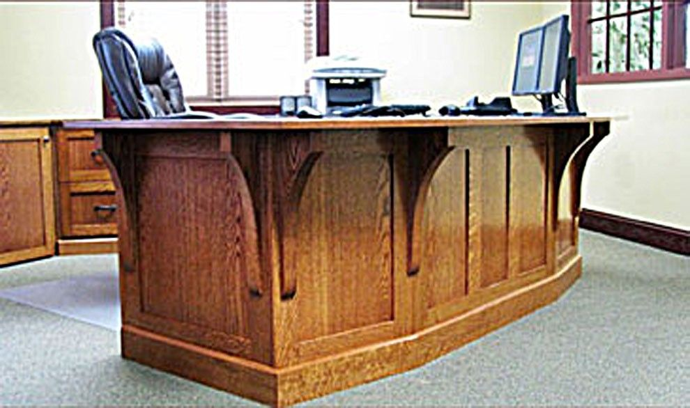Hand made mission style white oak office furniture by the for Mission style furniture