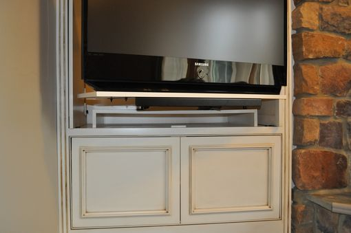 Custom Made Scrolled Entertainment Center