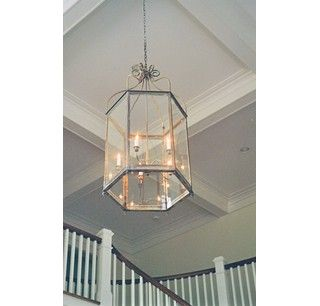 Custom Made Brass Foyer Light