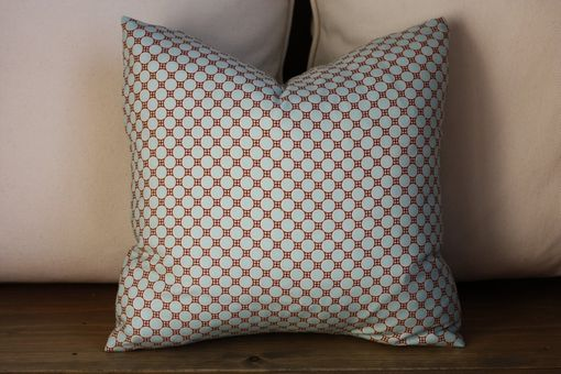 Custom Made Designer Waverly Stardust Jacquard Pillow Cover In Aquamarine Blue 18 X 18 Or 20 X 20 Zipper