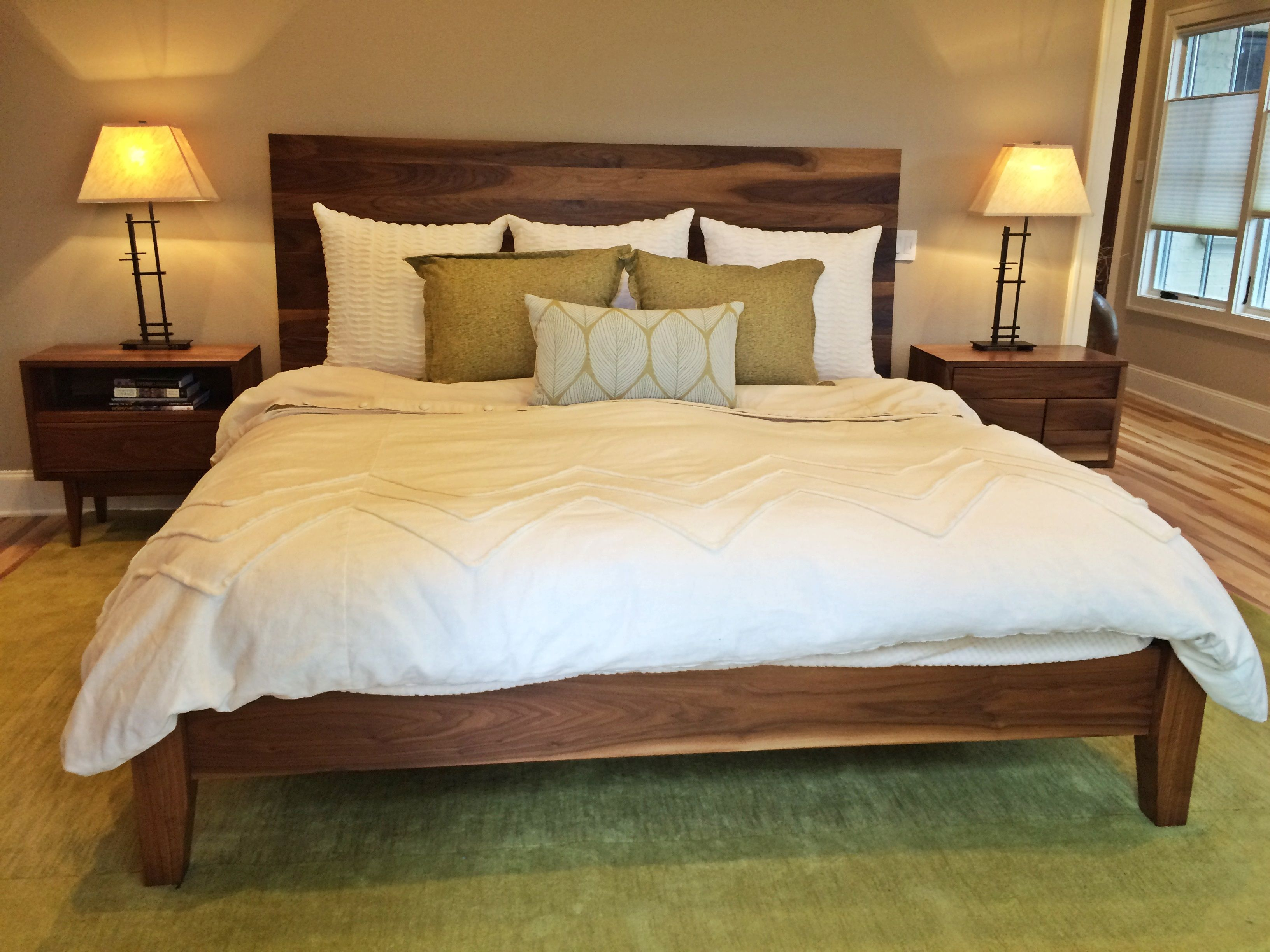 Handmade Walnut King Size Bed By Longhorn Woodworks Supply Custommade Com