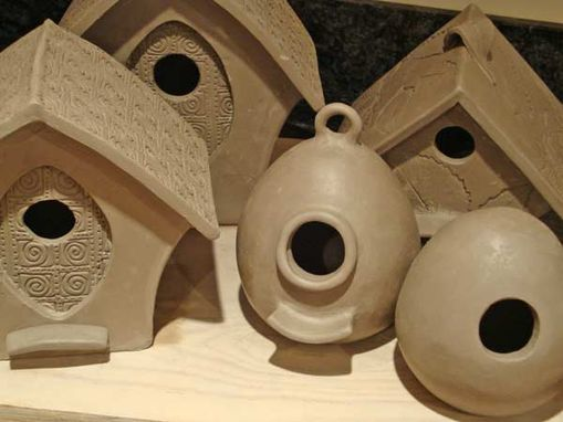 Custom Made Pottery, Custom Made Birdfeeders, Bird Houses, Bird Bath