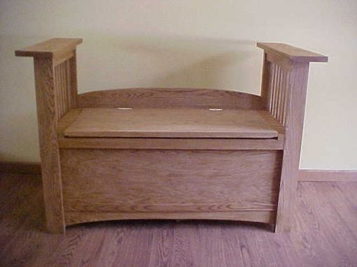 Custom Made Custom Made Oak Storage Bench